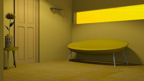 Yellow 3 - Living room  - by designkitty31