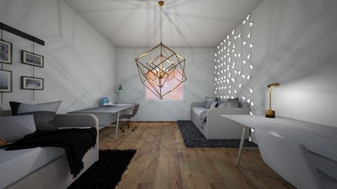 dorm room - Bedroom  - by LilLil