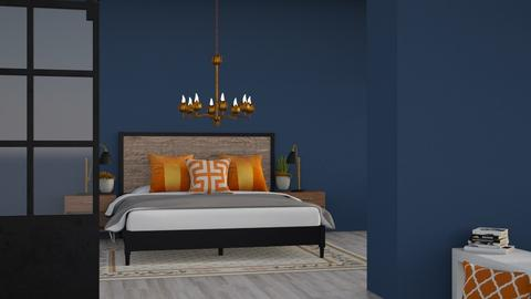 Blue and Orange - Modern - Bedroom  - by CitrusSunrise