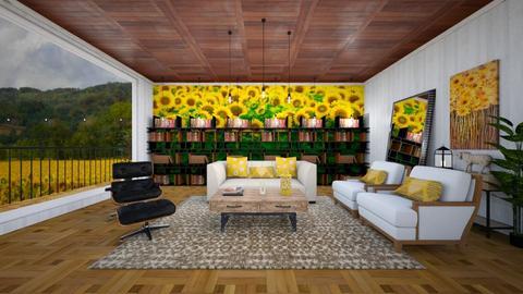 Sunflower - Living room  - by heyfeyt