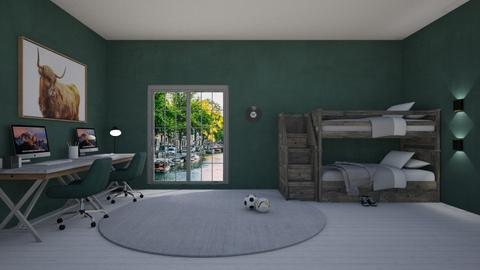 Bedroom green - Kids room  - by Ontwerpstudio34