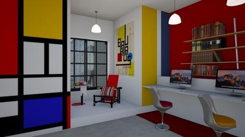 Matilda's Bauhaus coloured Studyroom - by Matilda de Dappere