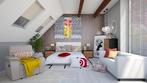 autumn bedroom - Bedroom  - by nihalruttala