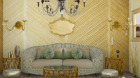 Golden Birds - Vintage - Living room  - by gtenenbaum1