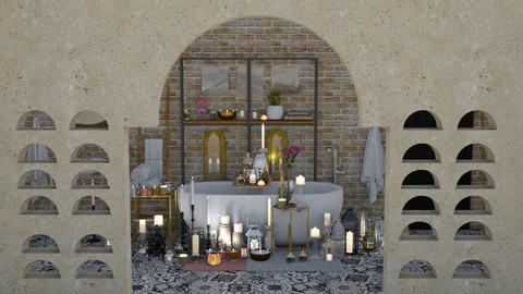 Candle bath - Vintage - Bathroom  - by Nina Colin