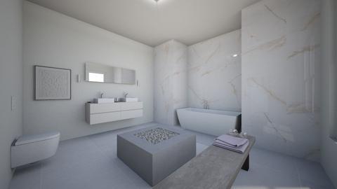 MINIMALIST BATHROOM - Bathroom  - by PAULA avila