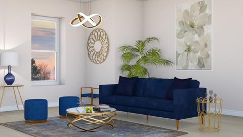Navy Gold Glam - Living room - by lovedsign