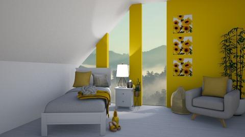 Mustard Bedroom Remix - Kids room  - by KittyKat28