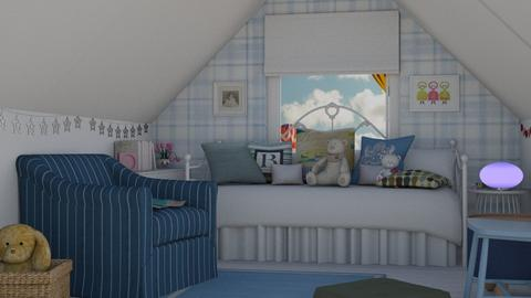 blue - Kids room  - by daisy_belle