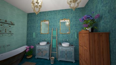 Trq and Metal Bath - Classic - Bathroom - by Buffy7