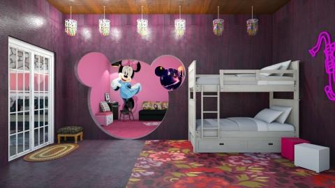 Minnie Mouse - Modern - Bedroom  - by Uroosa Bint E Haroon