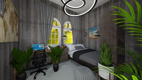 Mens bedroom - Bedroom  - by I_love_my_dog_icecream_and_cookie