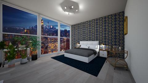 Manhattan high rise - Masculine - Bedroom  - by AbbaDreamsBig