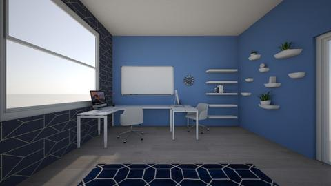 Prity in blue - Minimal - Office  - by Viktorija Kvas