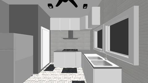 Zainodin House Design - Kitchen  - by zainunazrin