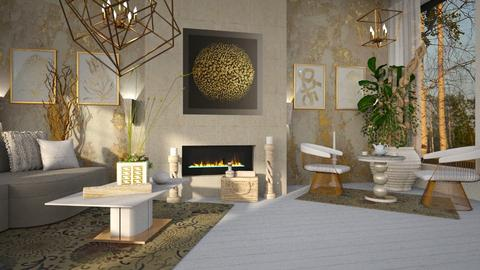 fireplace_contest_ZsuzsannaCs - Living room  - by ZsuzsannaCs