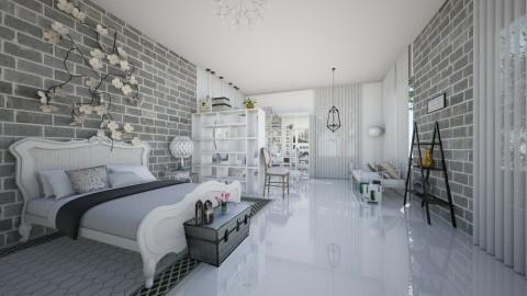 stone - Rustic - Bedroom  - by IkkaHe