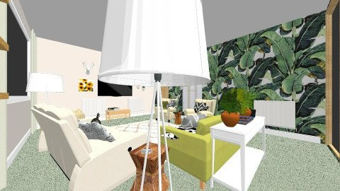 Lounge view new 5 - Retro - Living room  - by piajasmin1998