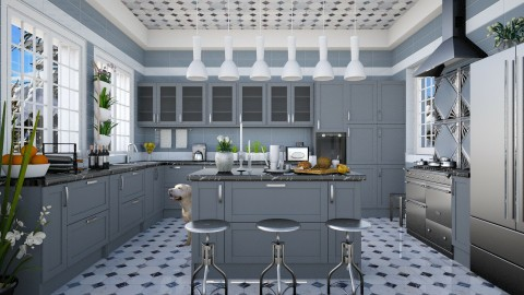 Design 248 Nifty Kitchen in Blue - Kitchen - by Daisy320