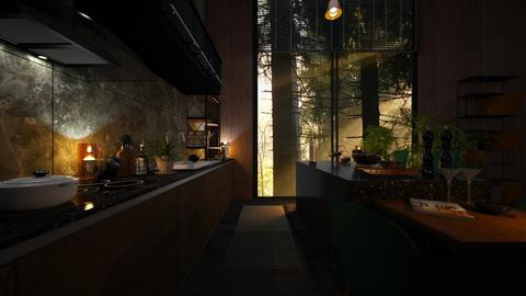 Urban Jungle - Kitchen  - by zarky