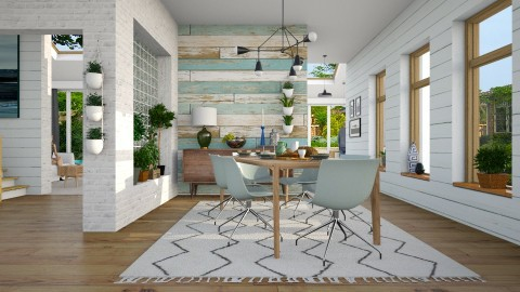 Shiplap  - Eclectic - Dining room  - by evahassing