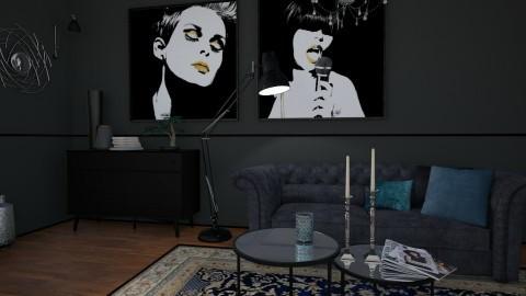 Black living room - by karla997