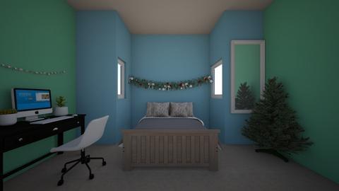 Christmas teen aesthetic  - Minimal - Bedroom  - by RosieDraws