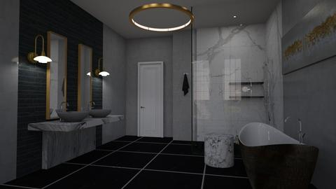 Black and White  - Modern - Bathroom  - by tolo13lolo