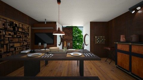 Countrydine2 - Rustic - Dining room  - by niranjanimanthees