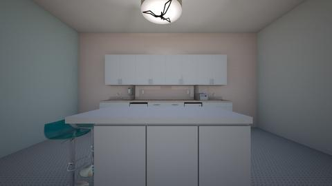 modern pastel kitchen - Kitchen  - by madisoncummins