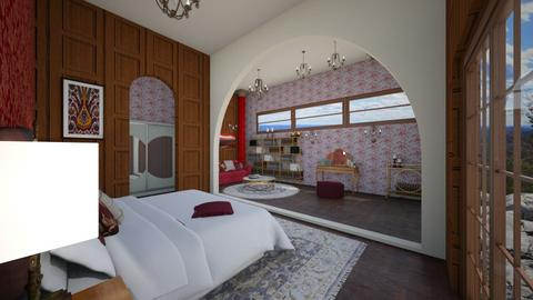 Art Nouveau bedroom - Bedroom  - by AmeliaGrangerWeasley