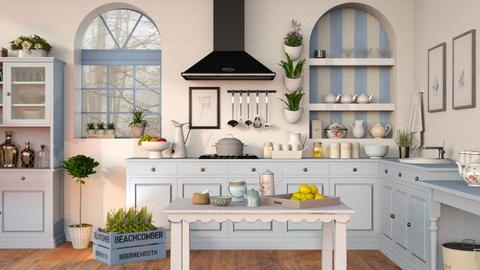 Blue Kitchen - Eclectic - Kitchen  - by Sally Simpson