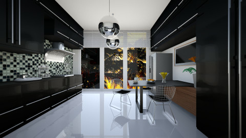 black - Kitchen  - by ANAAPRIL