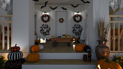 Trick or Treat - Classic - Garden  - by Claudia Correia
