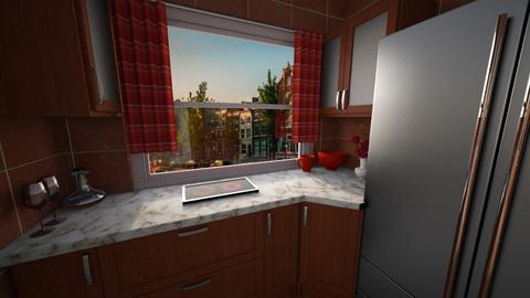 Light red - Kitchen  - by way_wildness