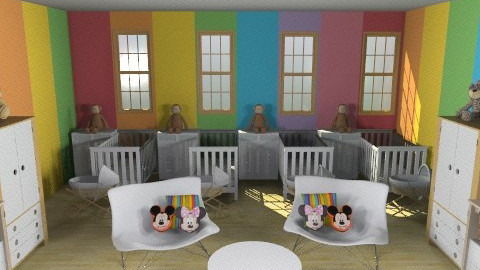 Quadruplets Nursery - Modern - Kids room  - by blodyn