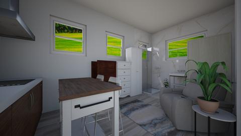 Tiny house pool house 12 - Kitchen  - by joannaowen
