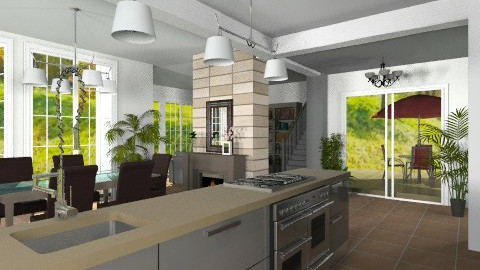 Open plan - Modern - Kitchen  - by Bibiche