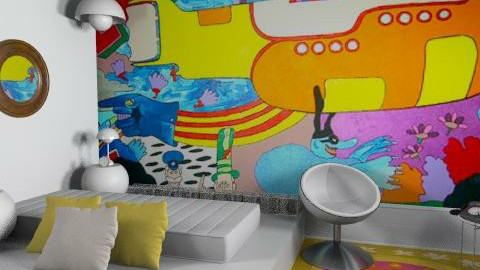 Yellow submarine - Retro - Bedroom  - by du321