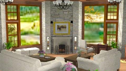 Side Views - Rustic - Living room  - by Bibiche
