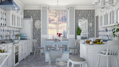 Chateau white - Vintage - Kitchen  - by Liu Kovac