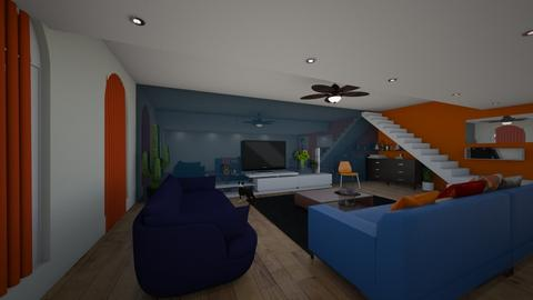 orange and bleu - Modern - Living room  - by noam nisgav