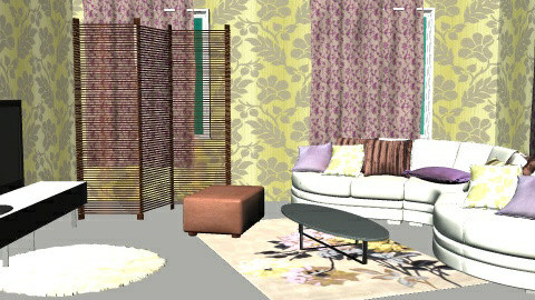 gold and mov 3 - Glamour - Living room  - by chania