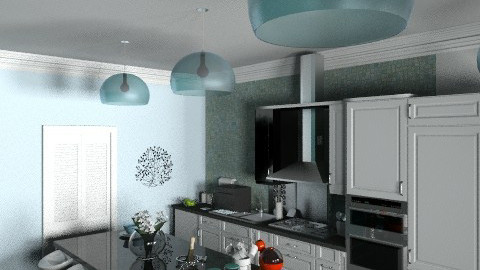 cozinha azul 2 - Eclectic - Kitchen - by bigas