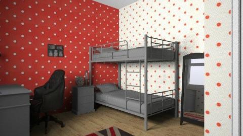 union jack bedroom design - Bedroom - by chelsiemia