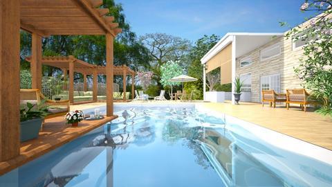 Summer in the Backyard - Modern - Garden  - by Imdabadgu