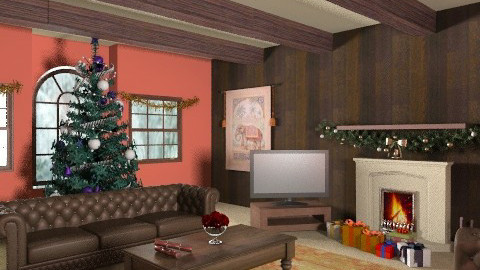 Cosey Living Room - Country - Living room - by CassW