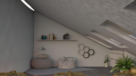 Attic Lounge - Minimal - Living room  - by kaede11