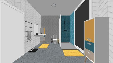 Wheelchair accessible WC - Bathroom  - by IteriorsPuma