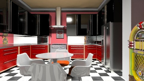 Retro Kitchen - Retro - Kitchen  - by PomBom